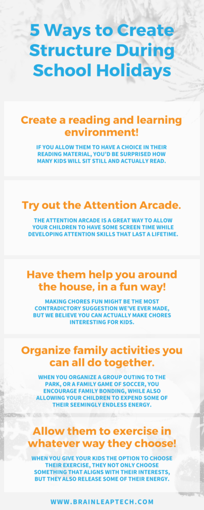 5 Ways to Create Structure During School Holidays